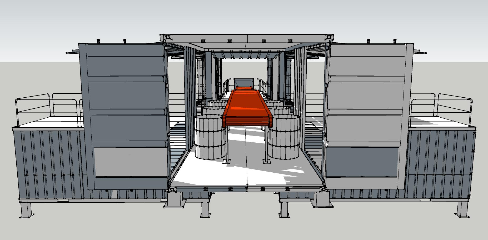 #C93000 Projeto usina de reciclagem em Container « Muda Arquitetura e  1854x912 px Projetos De Cozinhas Em Containers_5703 Imagens